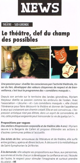 Article paru dans le Sud Girondin en 2016