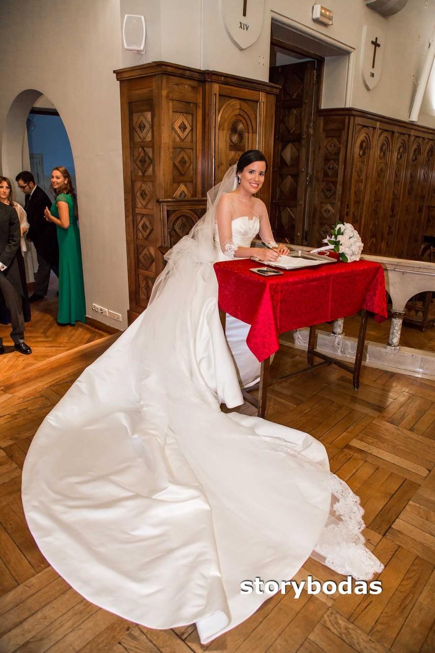 storybodas Foto de firmas de la novia