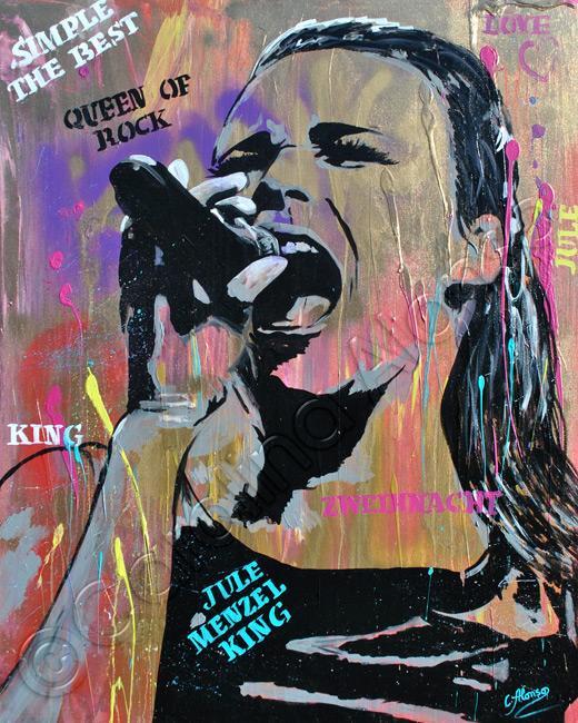 Jule Menzel King (2021), 100 x 80 cm, Mixed Media on canvas
