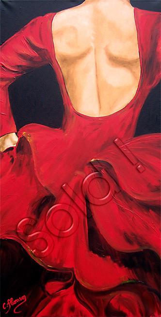 Detrás  (2010), 100 x 50 cm, Acryl auf Leinwand