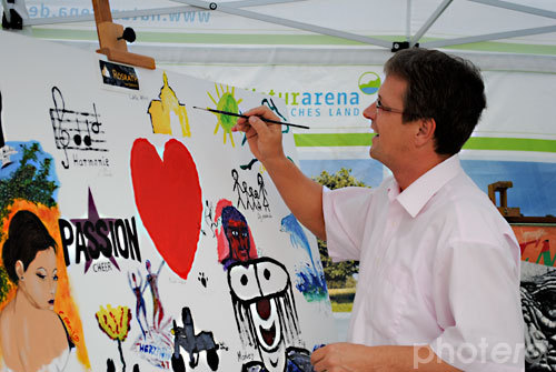 """""""Leinwand auf Reisen"""" by """"Kulturtage Rösrath"""" mit Marcus Mombauer 29.08.2010"""