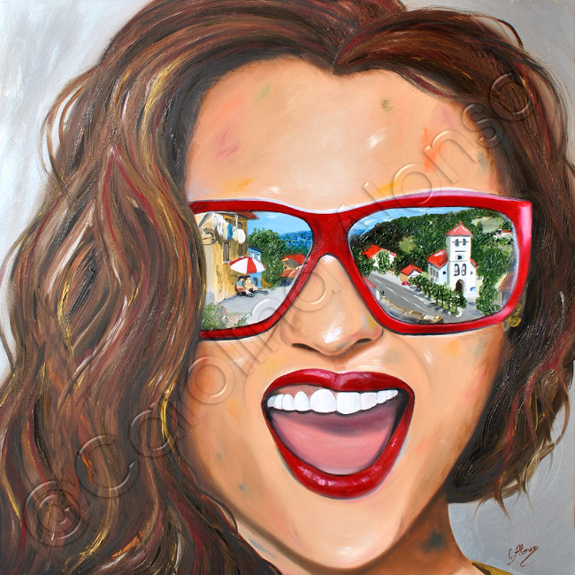 San Pedro (2020), 80 x 80 cm, oil on canvas