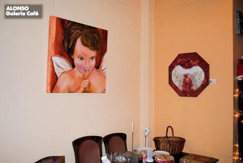 """Galerie Café, BERGISCH GLADBACH, """"Engelszeit"""" , Dez. 2010"""