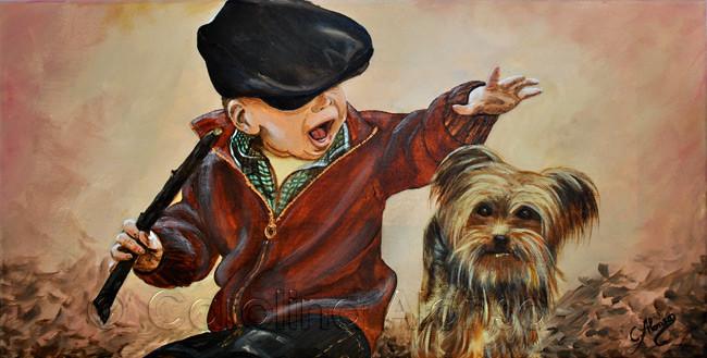Mein treuer Spielgefährte (2014), 30 x 60 x 4 cm, Acryl auf Leinwand