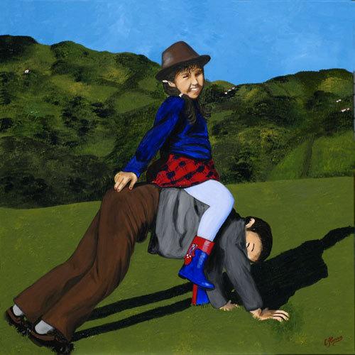 Crios en Grandiella (2008) 120 x 120 cm