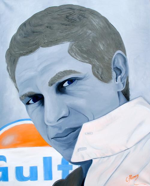 Steve McQueen (2010), 100 x 80 cm, Öl auf Leinwand