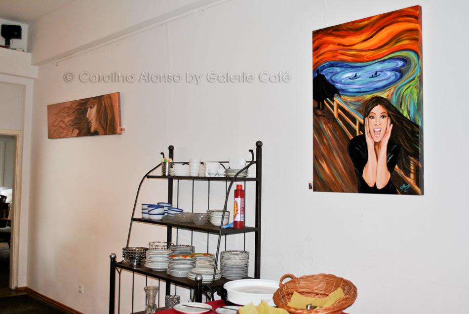 """Galerie Cafe, Bergisch Gladbach """"PopArt"""" im September 2017"""