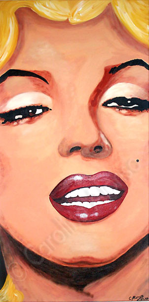 Marilyn Monroe (2008), 100 x 50 cm