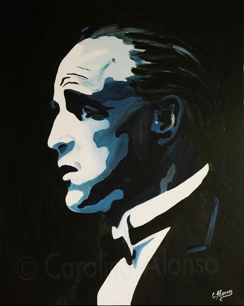 Marlon Brando (2007), 100 x 80 cm