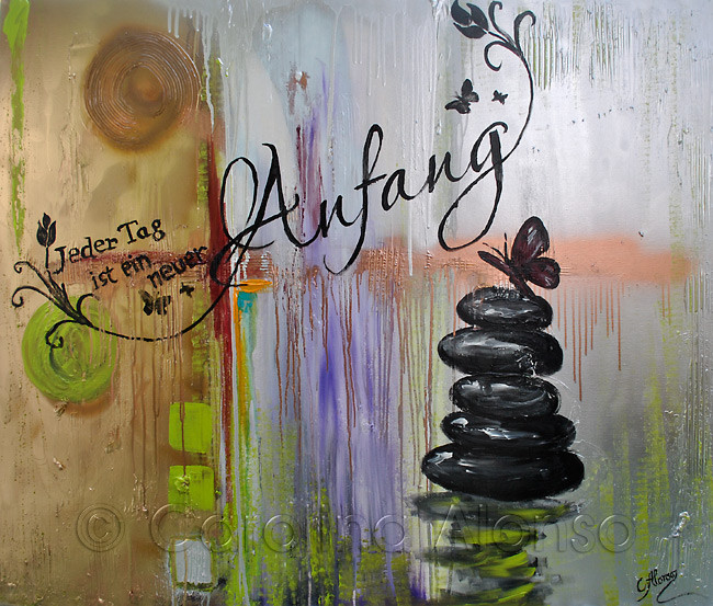 """Balance"" (2014), 100 x 120 cm, Mixed Media on canvas"