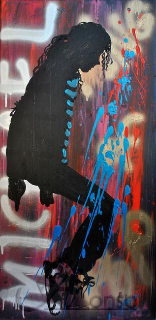 The Moment, Mixed Media auf Leinwand, 100 x 50 cm