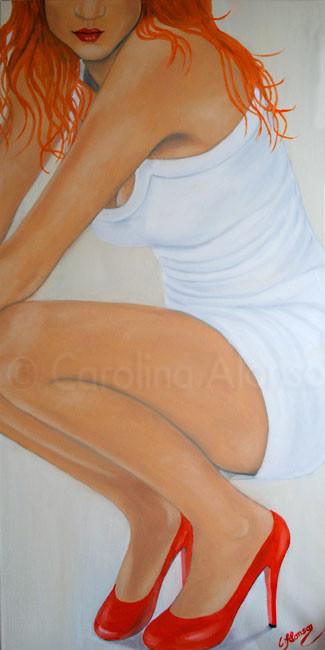 Mal kurz ausruhen (2010), 100 x 50 cm, Öl auf Leinwand