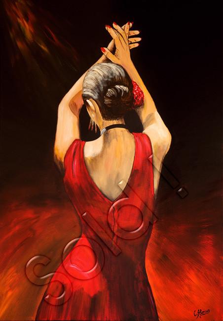 Miss Flamenco (2007), 100 x 70 cm