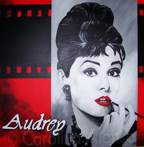 Audrey (2007), 80 x 80 cm