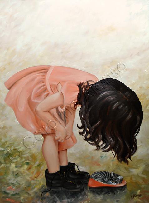 ¿Wo ist mein Schuh? (2014), oil on canvas, 100 x 70 cm