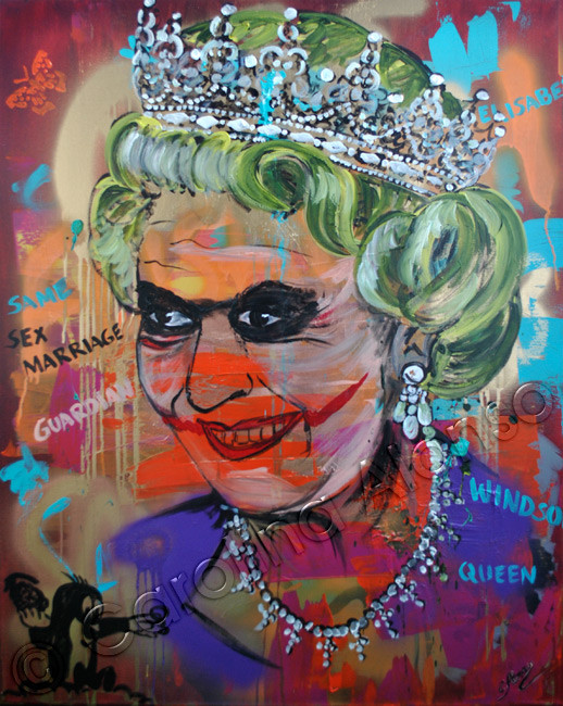 Queen (2015), 100 x 80 cm, Mixed Media on canvas