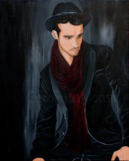 Tagträumer  (2009) 100 x 80 cm, Acryl auf Leinwand
