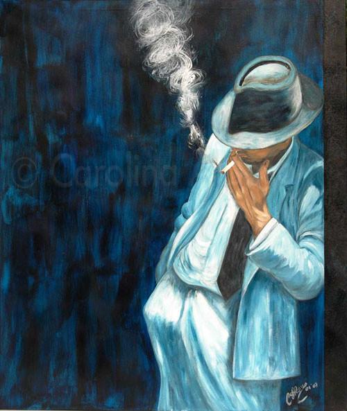 Hombre en blanco  (2007), 120 x 100 cm