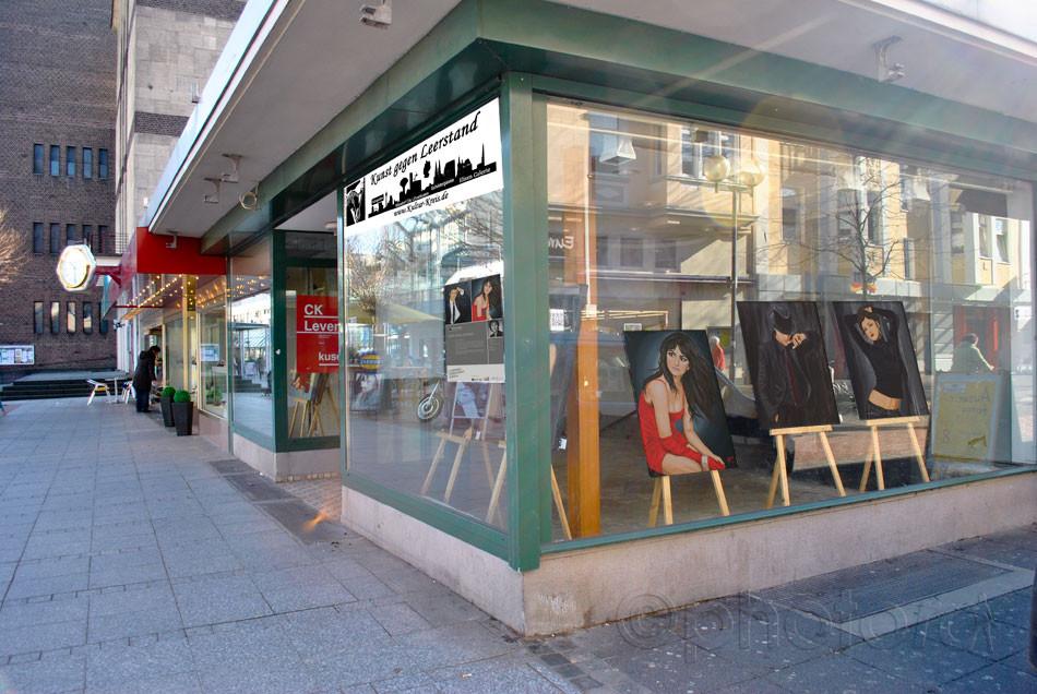 Kunst gegen Leerstand - Kultur-Kreis in Leverkusen, Wiesdorfer-Platz 61