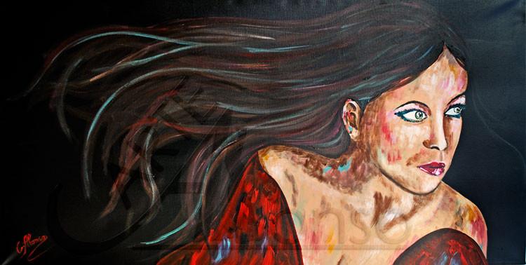 Abendwind II (2013), Acrylic on canvas, 50 x 100 cm