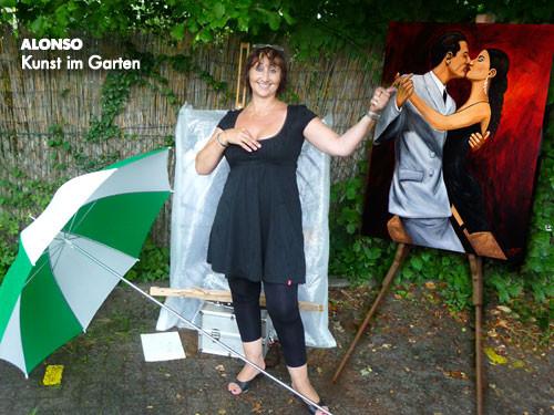 Kunst im Garten im Galerie Café, 2009