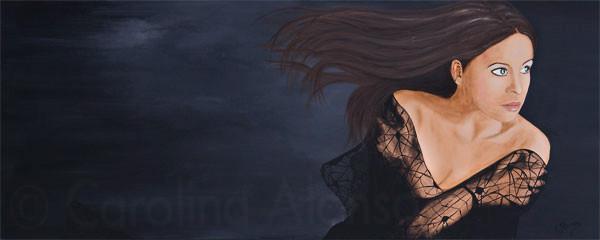 Abendwind (2010), 60 x 150 cm, Acryl auf Leinwand