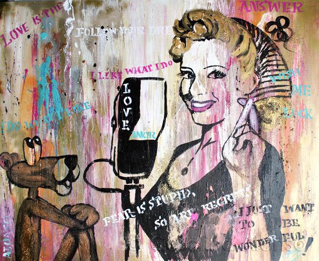 Wish me Luck (2014), 100 x 120 cm, Mixed Media auf Leinwand
