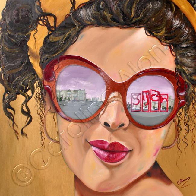 Gijon (2020), 80 x 80 cm, oil on canvas