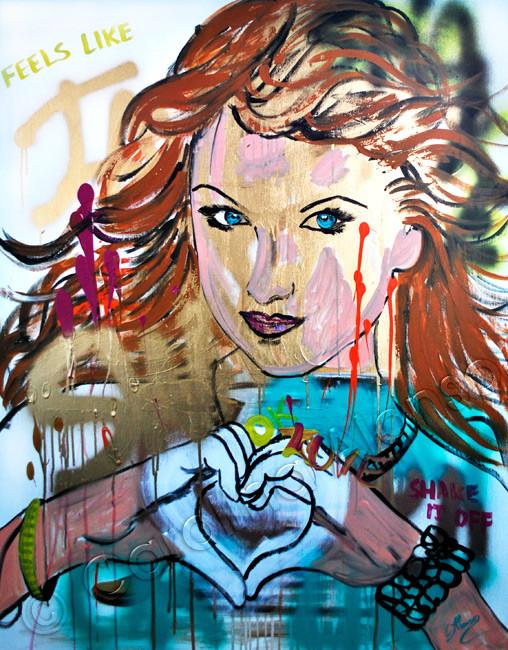 Feels Like (2015), 100 x 80 x 4 cm, Mixed Media on canvas