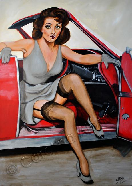 Cabriolé (2015), 100 x 70 cm, acrylic on canvas
