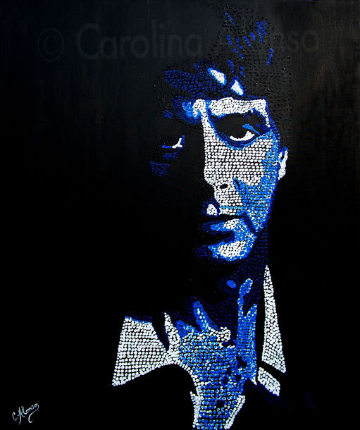 Al Pacino (2009), Acryl auf Leinwand 120 x 100 cm, Pointillismus