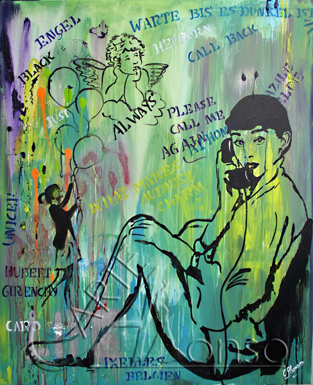 Call me again (2012), 120 x 100 cm, Mixed Media auf Leinwand