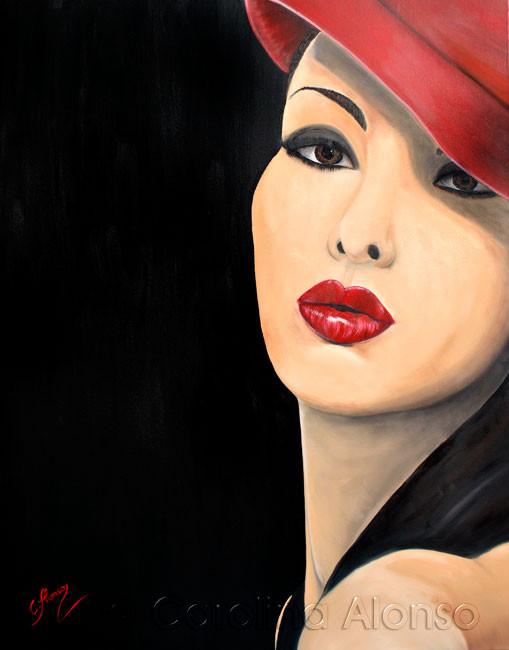KussMund (2014), 100 x 80 cm, oil on canvas
