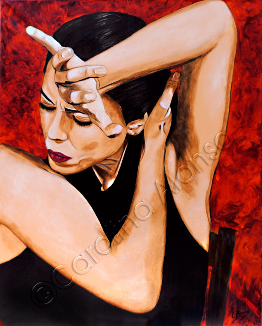 El canto flamenco (2010), 100 x 80 cm, Acrylic on canvas