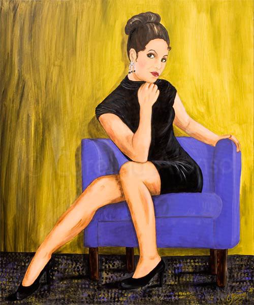 Genügsamkeit (2009) 100 x 80 cm, Acryl auf Leinwand