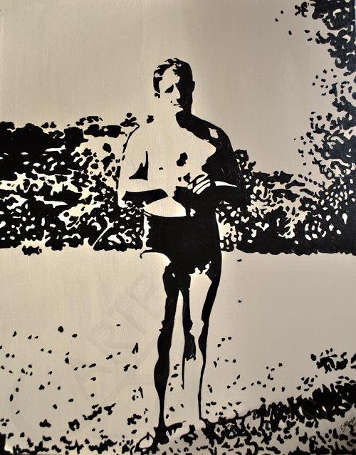 Komm baden ... (2012) 100 x 80 cm,