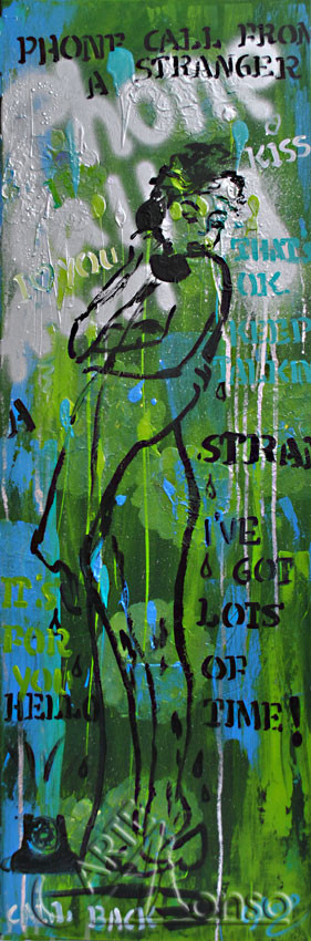 Lots of Time .... (2012),120 x 40 cm, Mixed Media auf Leinwand