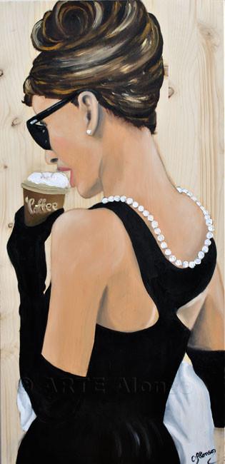 Cappuccino to go (2011), 80 x 40 cm, Öl auf Holzplatte