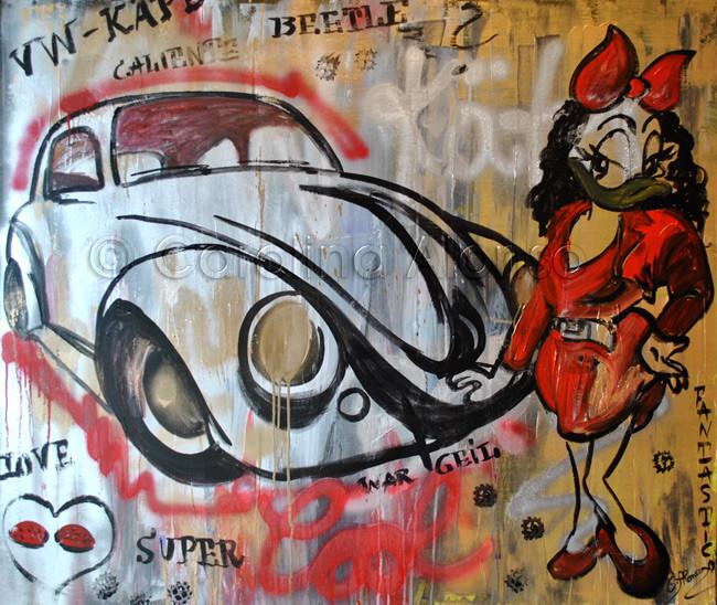 Käfer (2014), 100 x 120 cm, Mixed Media auf Leinwand