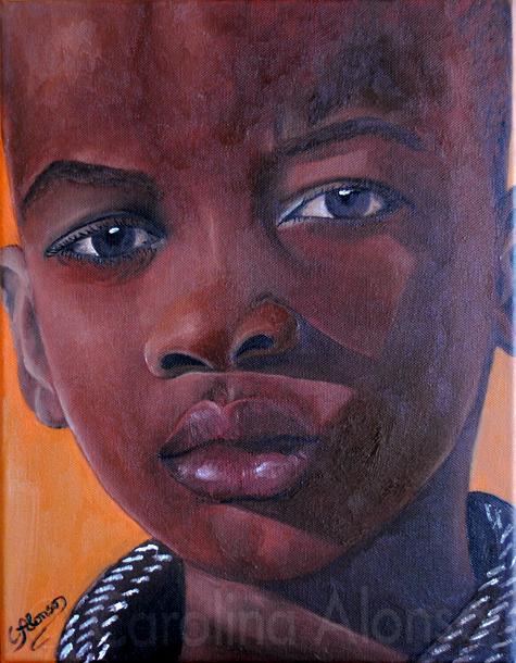 Junge aus Hombadorf (2011) 40 x 30 cm, Öl