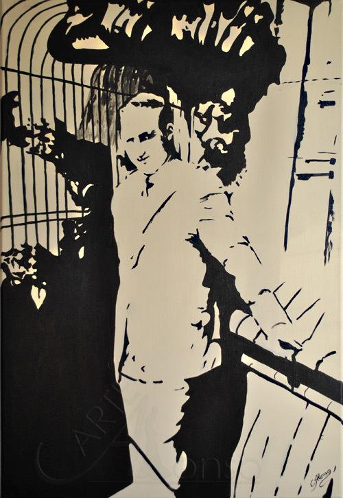 Oben auf dem Dom (2012) 100 x 70 cm,