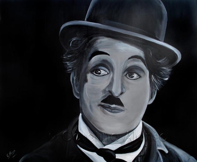 Charlie Chaplin (2014), 100 x 120 cm, acrylic on canvas