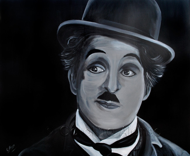 Charlie Chaplin (2014), 100 x 120 cm, acrylic on canvas
