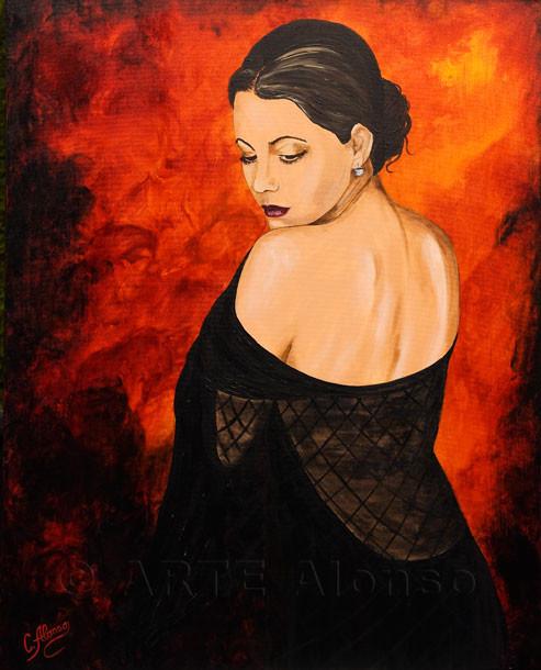 Vernetzt  (2009) 100 x 80 cm, Acryl auf Leinwand