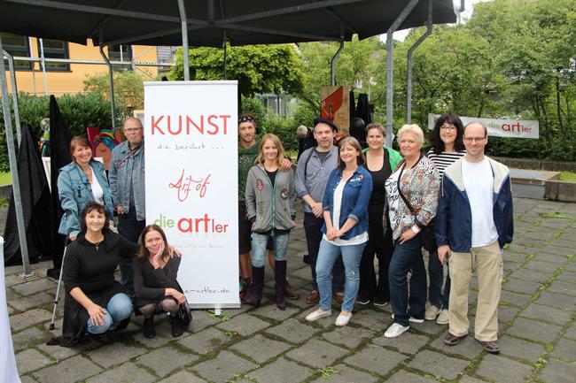 """Gem.-Ausstellung """"Zeichen Setzen"""" mit """"die-artler"""" im Pavillon Bürgerhaus in Kürten im Juli 2017"""