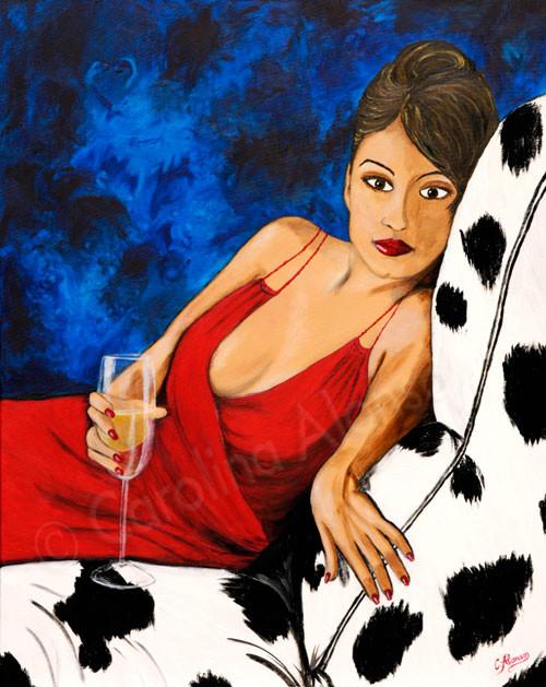 Sehnsucht (2008), 100 x 80 cm, Acryl auf Leinwand