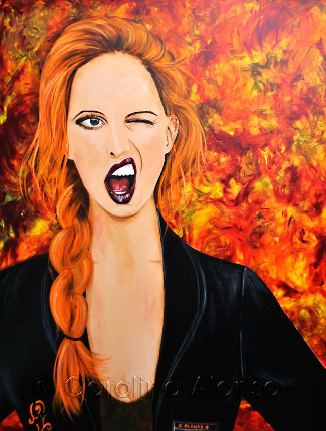Ach neeh.... (2013), 100 x 80 cm, Acrylic on canvas