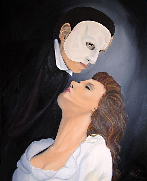 Phantom der Oper (2010), 100 x 80 cm, Öl auf Leinwand