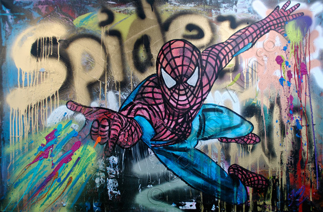 Spider (2015), 80 x 120 x 4 cm, Mixed Media on canvas