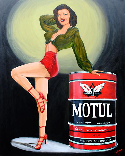 MOTUL Girl 1 (2010), 150 x 120 cm